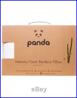 Panda Memory Foam Bamboo Pillow Hypoallergenic Antibacterial Climate Control Eco