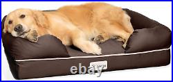PetFusion Dog Bed Orthopedic Memory Foam Medium Firmness Pillow Waterproof Liner
