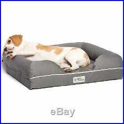 PetFusion Ultimate Orthopedic Memory Foam Gray Dog Bed & Lounge