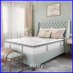 Pillow Top 12 Inch Cool Gel Memory Foam And Innerspring Hybrid Mattress Twin-XL