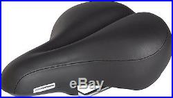 Pillow Top Bicycle Saddle Soft Memory Foam Bike Seat Double Density Base, Black