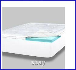Pillow Top Gel Memory Foam Mattress Topper King Serene Dual Layer Made/USA