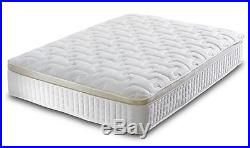 Pillow Top Gold 1000 Pocket Sprung Memory Foam Quilted Fabric Ortho Mattress