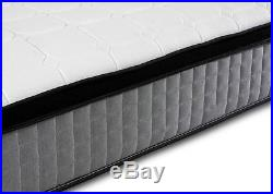 Pillow Top Grey 1000 Pocket Sprung Memory Foam Orthopedic Mattress