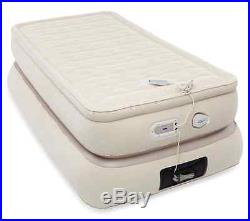 Pillow Top Inflatable Bed Sleeping Air Mattress Twin Size Airbed Outdoor Camping