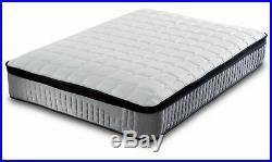 Pillow Top Mattress Luxury 3000 Pocket Sprung Single Double King Size Mattress