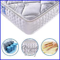 Pillow Top Memory Foam Mattress Pocket Sprung Mattress 4FT6 Double 5FT King Size