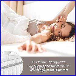 Pocket Sprung Pillow Top Topper Dream Mattress Various Sizes