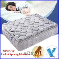 Pocket Sprung Spring Mattress with Memory Foam Pillow Top 4FT6 Double 5FT King