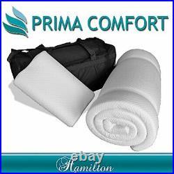 Prima Comfort Travel Memory Foam Mattress Topper plus Pillow The Hamilton -7