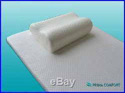Prima Comfort Travel Memory Foam Mattress Topper plus Pillow The Windsor