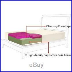 Queen Size 10 Memory Foam Mattress with 2 Pillows HT0947 WC