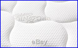 Queen Size Memory Foam Mattress Pocket Spring Pillow Top Medium Firm 10 Inch
