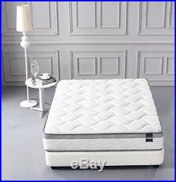 Queen Size Memory Foam Mattress Pocket Spring Pillow Top Medium Firm 10 Inch