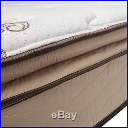 Quilted Pillow Plush Top 11 Inch King Size Memory Foam Mattress Antimicrobial