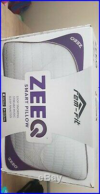 REM-Fit ZEEQ Smart Pillow, NEW, 21 X 27, Memory foam plus multiple speakers