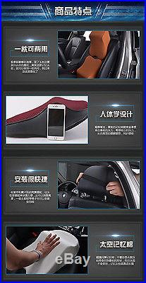 Red Car Seat Pad Memory Foam Travel Pillow Head Neck Rest Support Cushion New