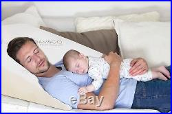 Relax Home Life Foam Bed Wedge Bamboo Pillow With 1.5 Memory Foam Topper and