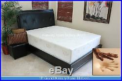 SALE 13 Gel Grand Memory Foam Mattress. Twin, Full, Queen, King + 2 Pillows NEW