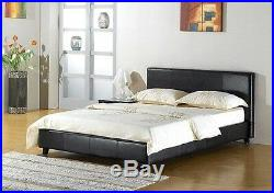 SALE! Faux Leather 5FT KingSize Bed, 6 Memory Foam Mattress, Duvet + Pillows