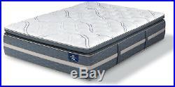SERTA 16.25 in Hybrid Mattress Full Size Luxury Plush Gel Memory Foam Pillow Top