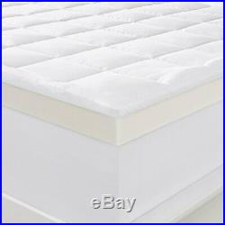 SERTA 4 Pillow Top and Memory Foam Mattress Topper KING NEW