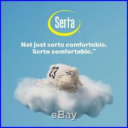 SERTA Luxury Hybrid Twin Mattress Gel Memory Foam Firm Pillow Top Sleeper 14 in