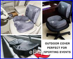 SET Cool Gel Memory Foam Seat Cushion with Rain Cover and Lumbar Support Pillow