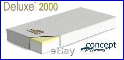 SINGLE HQ Memory Foam Concept Mattress & Pillow Deal 15 Year Warranty H-Density