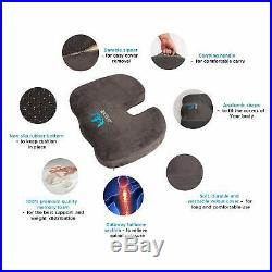 SOFTaCARE Seat Cushion Coccyx Orthopedic Memory Foam and Lumbar Support Pillow