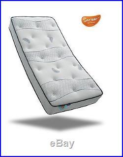 Sareer Cool Blue 1000 Pocket Sprung Memory Foam Mattress and FREE PILLOWS