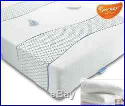 Sareer Cool Blue Reflex Memory Foam Mattress Various Sizes and FREE PILLOWS