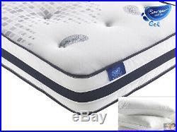 Sareer Gel Open Coil Sprung Cooling Memory Foam Mattress and FREE PILLOWS