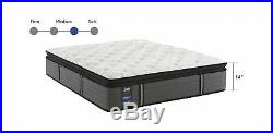 Sealy Mattress Cushion Firm Euro Pillow Top 14 Inch King Size Comfort Sleeping