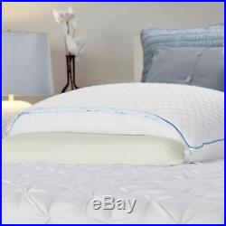 Sealy Reversible Bed Pillow 2 Pcs White Soft Comfy Smooth Headrest Lightweight