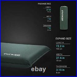 Self Inflating Memory Foam Camping Sleeping Mat Pad with Built in Pillow