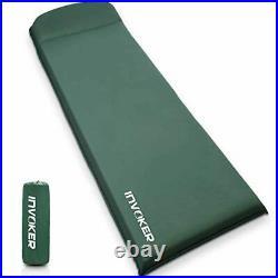 Self Inflating Memory Foam Camping Sleeping Mat Pad with Built in Pillow, 3inc