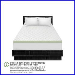 SensorPEDIC 3-Inch Ultimate Cooling Luxury Quilted Memory Foam Bed Topper, King