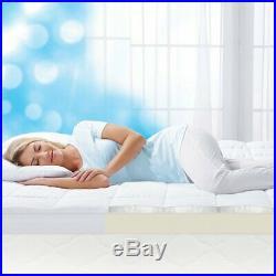 Serta 4 Pillow-Top and Memory Foam Mattress Topper Queen NEW