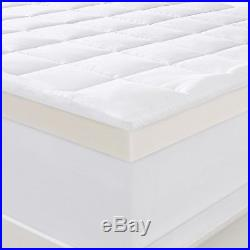 Serta 4 Pillow-Top and Memory Foam Mattress Topper with Quilted Cover Size KING