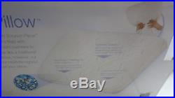 Serta IComfort Gel Memory Foam 2 in 1 Scrunch Pillow QUEEN Sleep system NEW 2in1