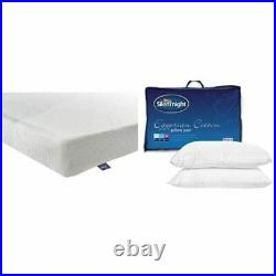 Silentnight 3-Zone Memory Foam Rolled Mattress With a Pair of Egyptian Cotton Pi