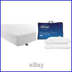 Silentnight 7-Zone Memory Foam Rolled Mattress + Egyptian Cotton Pillows, Double