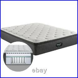 Simmons Beautyrest Silver 900 Series Plush Pillow Top Mattress + Gel Memory Foam