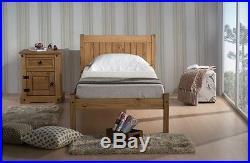 Single Wooden Pine Bed + Quality Duvet + 2 Pillows + 6 Memory Foam Mattress