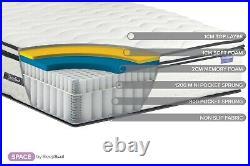 SleepSoul Space 2000 Pocket Memory Pillow Top Mattress ALL SIZES