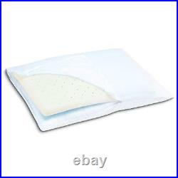 Sleep Innovations 2-in-1 Ventilated Memory Foam & Fiber Fill Pillow with