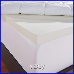 Sleep Innovations Instant Pillow Top Memory Foam and Fiber Mattress Topper, Made