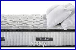 Sleep Soul Bliss Single 90cm 3FT Mattress Pillow Top Memory Foam Pocket Sprung
