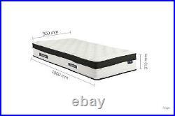 Sleep Soul Cloud Single 90cm 3FT Mattress Pillow Top Memory Foam Pocket